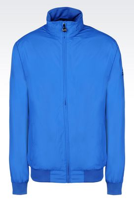 Armani Bomber jackets Men full zip hooded blouson