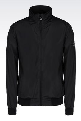 Armani Bomber jackets Men full zip hooded blouson