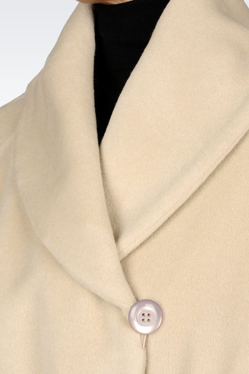 WOOL AND CASHMERE COAT WITH BELTED WAIST: Single-breasted coats Women by Armani - 5