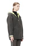 T by ALEXANDER WANG BONDED FLEECE REVERSIBLE HOODED JACKET Jacket Adult 8_n_a