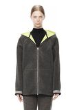 T by ALEXANDER WANG BONDED FLEECE REVERSIBLE HOODED JACKET Jacket Adult 8_n_d