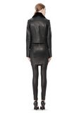 T by ALEXANDER WANG PEBBLED LEATHER MOTORCYCLE JACKET Jacket Adult 8_n_r