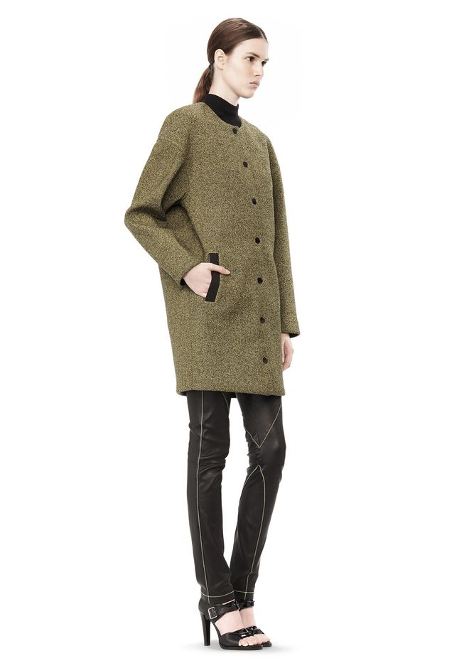 T by ALEXANDER WANG MESH BONDED NEOPRENE COLLARLESS COCOON COAT JACKETS AND OUTERWEAR  Adult 12_n_e