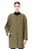 T by ALEXANDER WANG MESH BONDED NEOPRENE COLLARLESS COCOON COAT JACKETS AND OUTERWEAR  Adult 8_n_d
