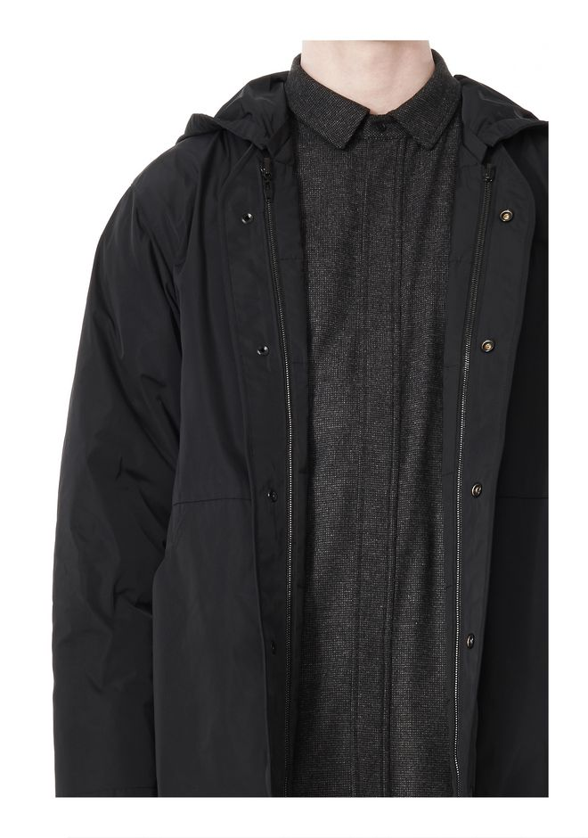 ALEXANDER WANG BASEBALL COAT W/ REMOVEABLE DOWN HOOD PARKA Adult 12_n_a