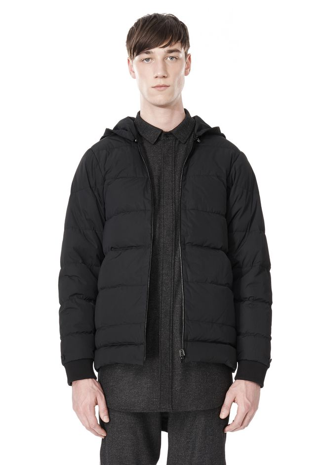ALEXANDER WANG BASEBALL COAT W/ REMOVEABLE DOWN HOOD PARKA Adult 12_n_e
