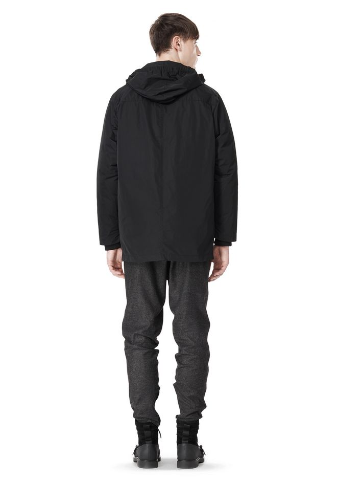 ALEXANDER WANG BASEBALL COAT W/ REMOVEABLE DOWN HOOD PARKA Adult 12_n_r