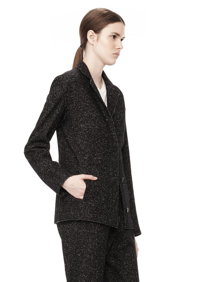 T by ALEXANDER WANG BOUCLE FLEECE SOFT BLAZER JACKETS AND OUTERWEAR  Adult 12_n_a