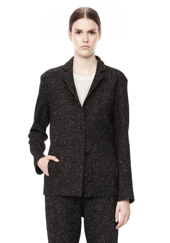 T by ALEXANDER WANG BOUCLE FLEECE SOFT BLAZER JACKETS AND OUTERWEAR  Adult 12_n_d
