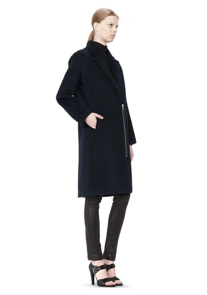 T by ALEXANDER WANG MOHAIR ALPACA WOOL FELT LONG CAR COAT JACKETS AND OUTERWEAR  Adult 12_n_e