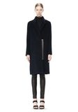 T by ALEXANDER WANG MOHAIR ALPACA WOOL FELT LONG CAR COAT JACKETS AND OUTERWEAR  Adult 8_n_f