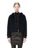 T by ALEXANDER WANG MOAHIR ALPACA WOOL FELT HOODED JACKET Jacket Adult 8_n_d