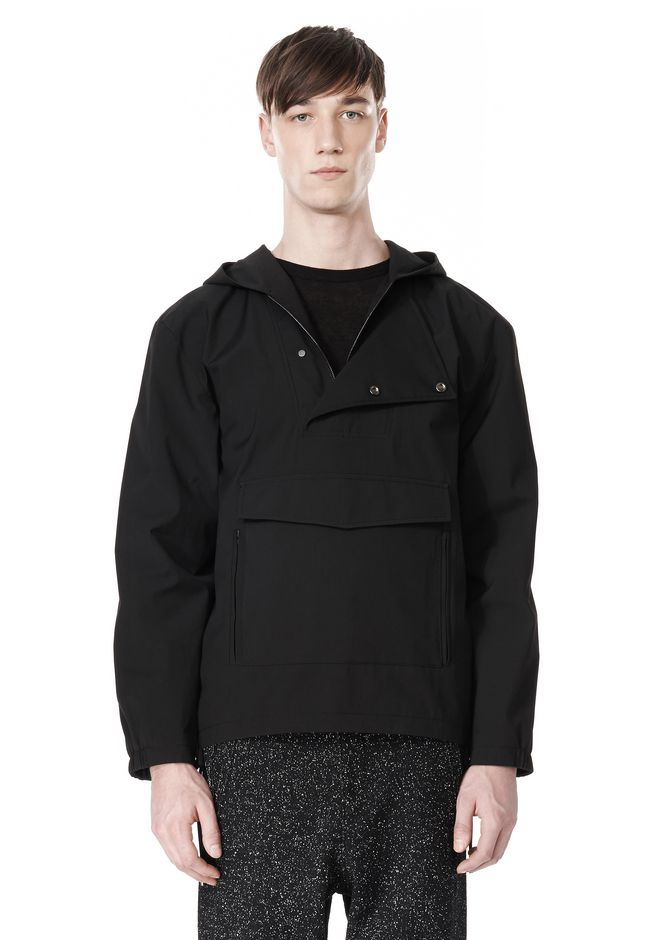 T by ALEXANDER WANG LAMINATED TROPICAL HOODED ANORAK JACKETS AND OUTERWEAR  Adult 12_n_e