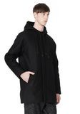 T by ALEXANDER WANG WOOL NYLON FELT & MESH COMBO DUFFEL COAT JACKETS AND OUTERWEAR  Adult 8_n_a