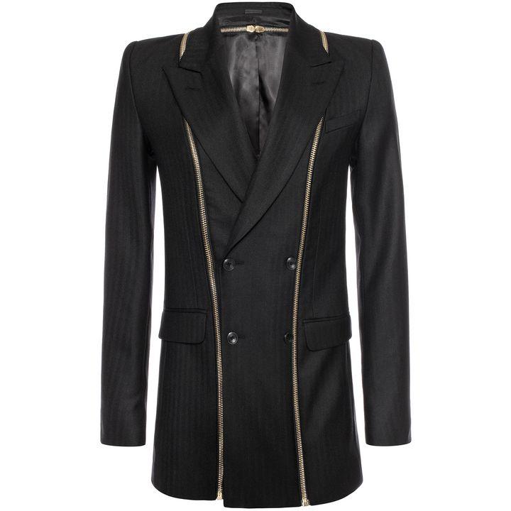 Alexander McQueen, Double Breasted Zip Detail Jacket