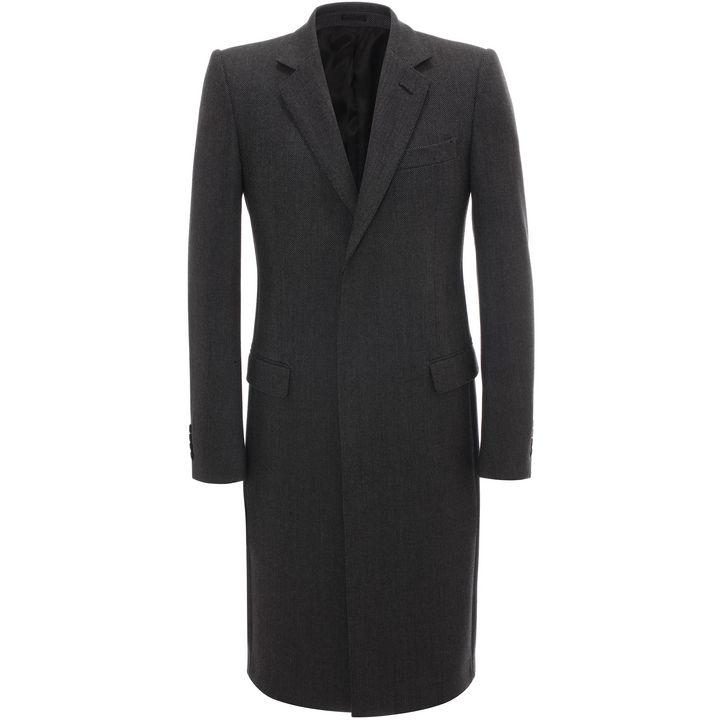 Alexander McQueen, Double Breasted Silk Check Coat