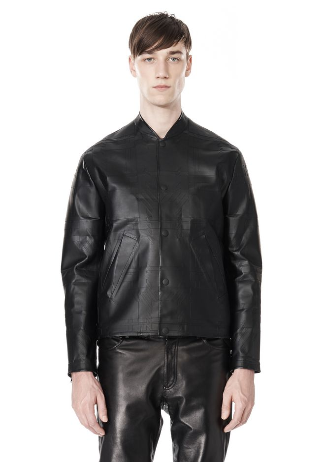 ALEXANDER WANG LASER CUT BONDED BOMBER JACKETS AND OUTERWEAR  Adult 12_n_e