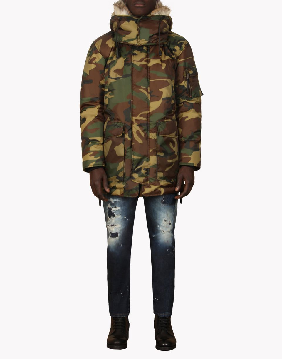 dsquared2 camo parka coats for men official store. Black Bedroom Furniture Sets. Home Design Ideas