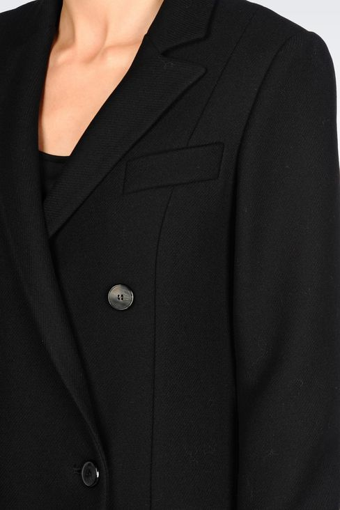 DOUBLE-BREASTED RUNWAY COAT IN BROADCLOTH: Double-breasted coats Women by Armani - 5