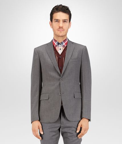 Dark Grey Light Worsted Wool Jacket