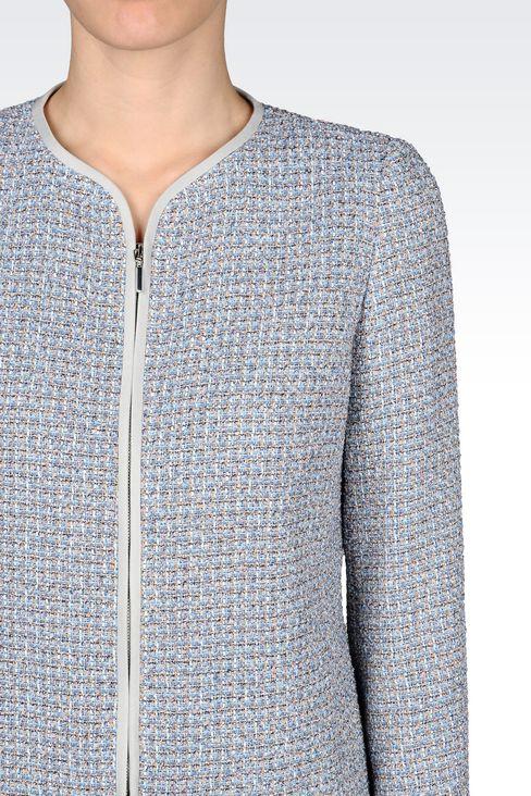 CREW NECK JACKET IN BOUCLÉ: Dinner jackets Women by Armani - 4