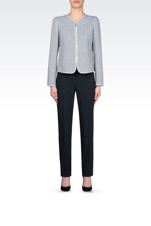 CREW NECK JACKET IN BOUCLÉ: Dinner jackets Women by Armani - 2