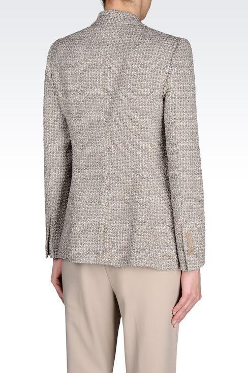 JACKET IN BOUCLÉ: One button jackets Women by Armani - 3