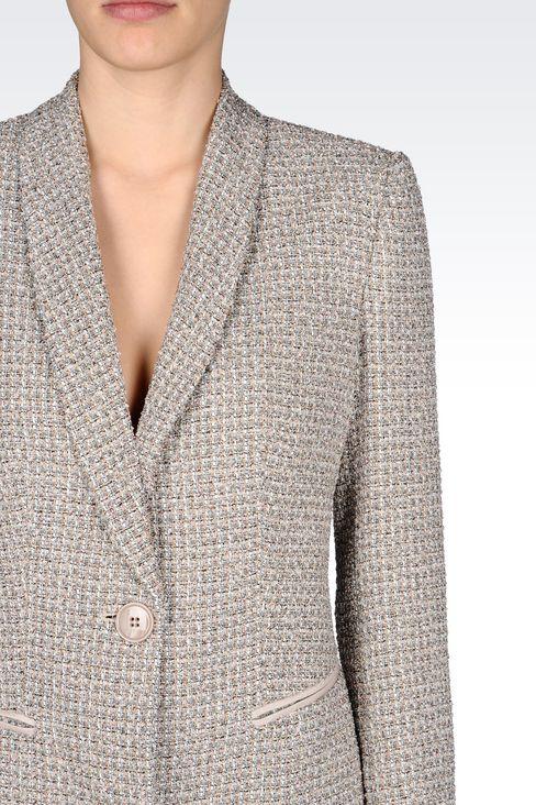 JACKET IN BOUCLÉ: One button jackets Women by Armani - 4