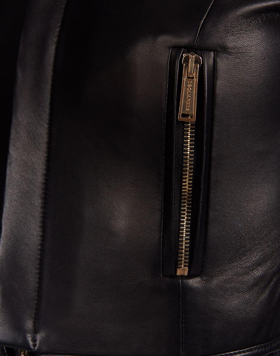 diane leather jacket coats & jackets Woman Dsquared2