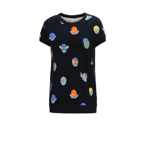 STELLA McCARTNEY, Sweatshirt à manches courtes, Sweat-shirt super-héros Stella