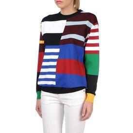 STELLA McCARTNEY, Sweatshirt à manches longues, Sweat-shirt avec rayures façon maillot de rugby