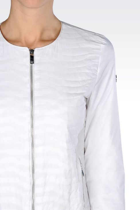 CREW NECK BLOUSON IN QUILTED NYLON: Dinner jackets Women by Armani - 4