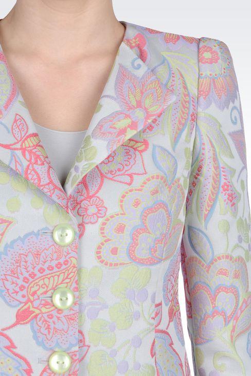 JACKET IN GOBELIN: Three button jackets Women by Armani - 4