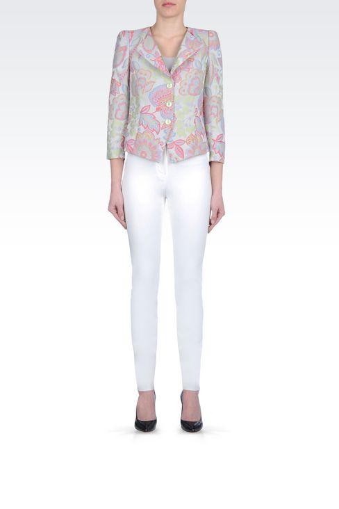 JACKET IN GOBELIN: Three button jackets Women by Armani - 2