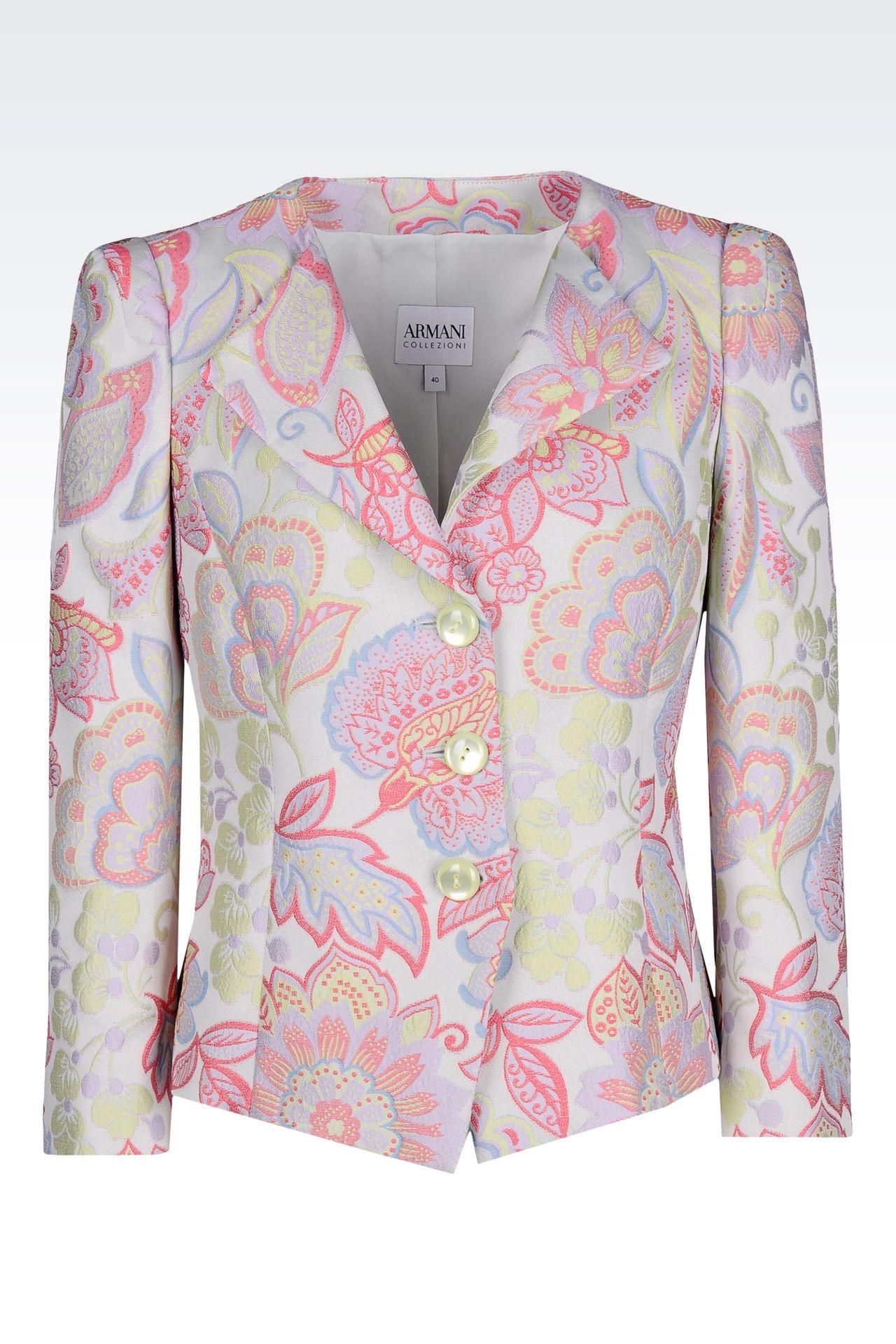JACKET IN GOBELIN: Three button jackets Women by Armani - 0