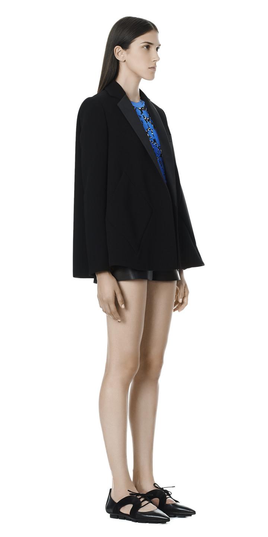 Balenciaga Argyle Trapeze Jacket