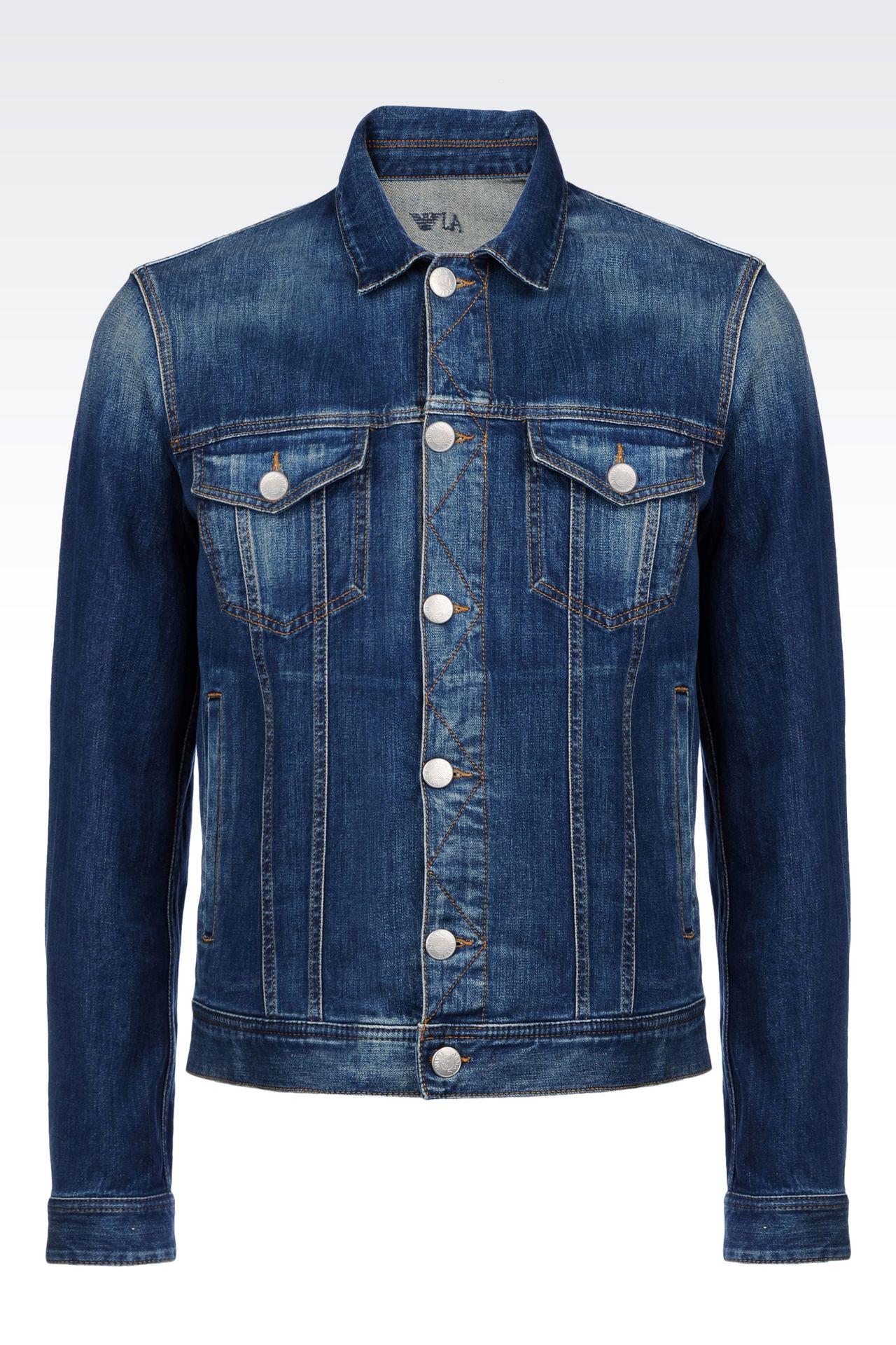 Armani Jeans Men DENIM JACKET, - Armani.com