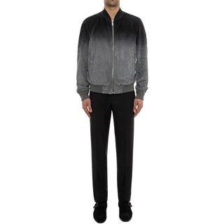 ALEXANDER MCQUEEN, Leather, Degradé Suede Leather Jacket