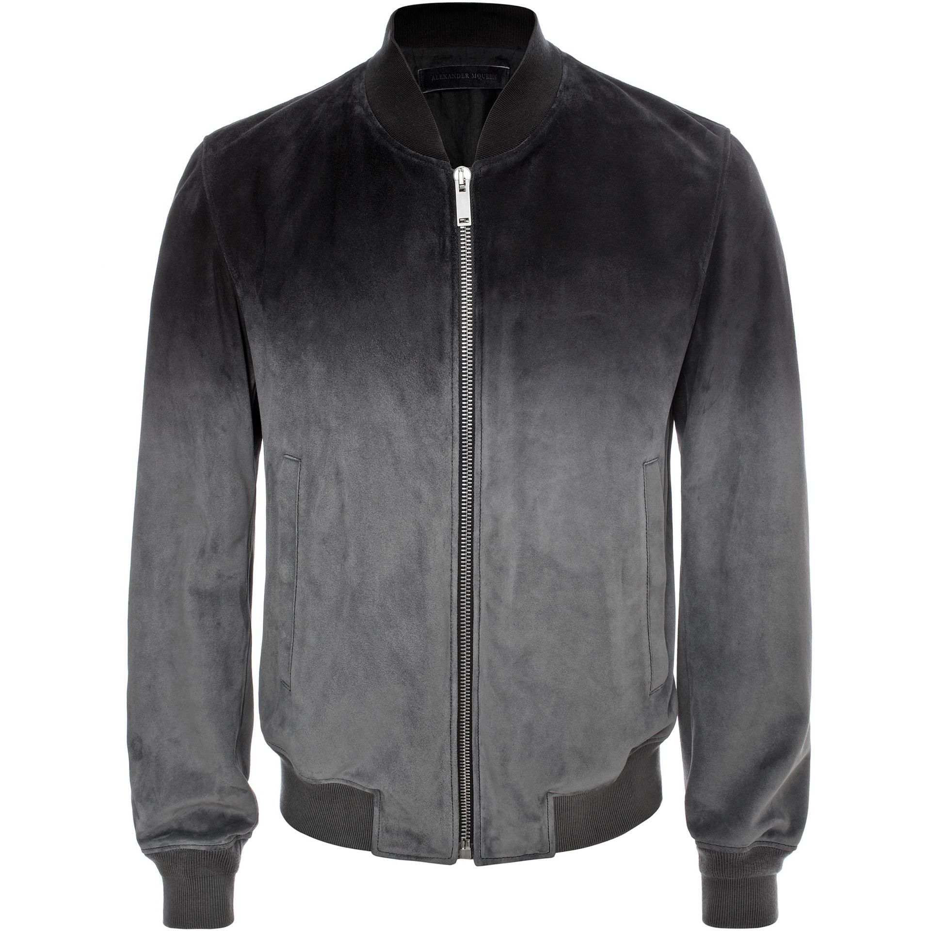 ALEXANDER MCQUEEN, Leather, Degrad  Suede Leather Jacket