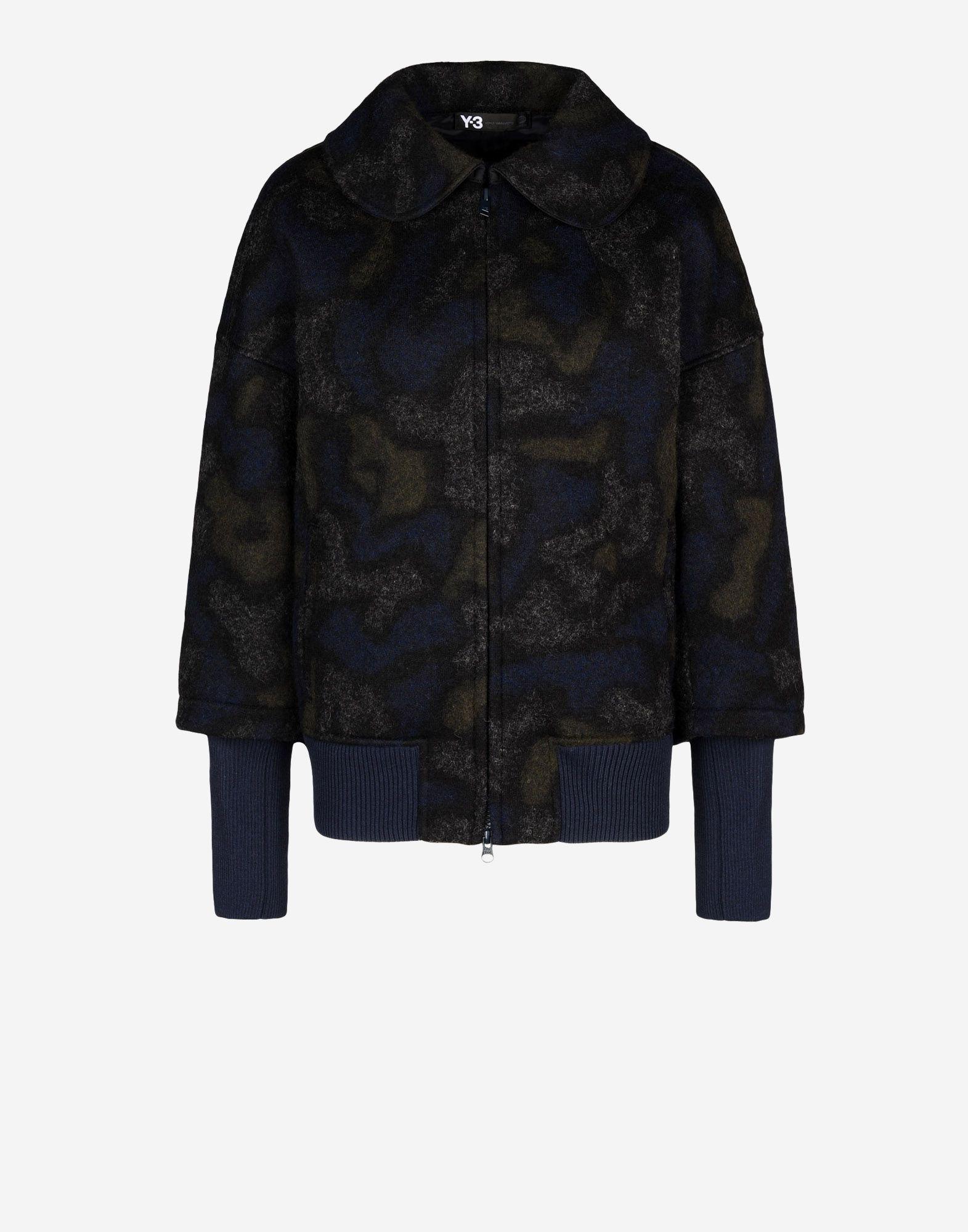 jackets y 3 bonded wool blouson for women online official store. Black Bedroom Furniture Sets. Home Design Ideas