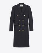 Alluré Coat in Navy Blue Wool