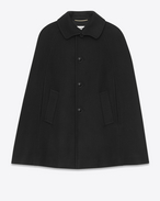 Mac Cape in Black Felted Wool
