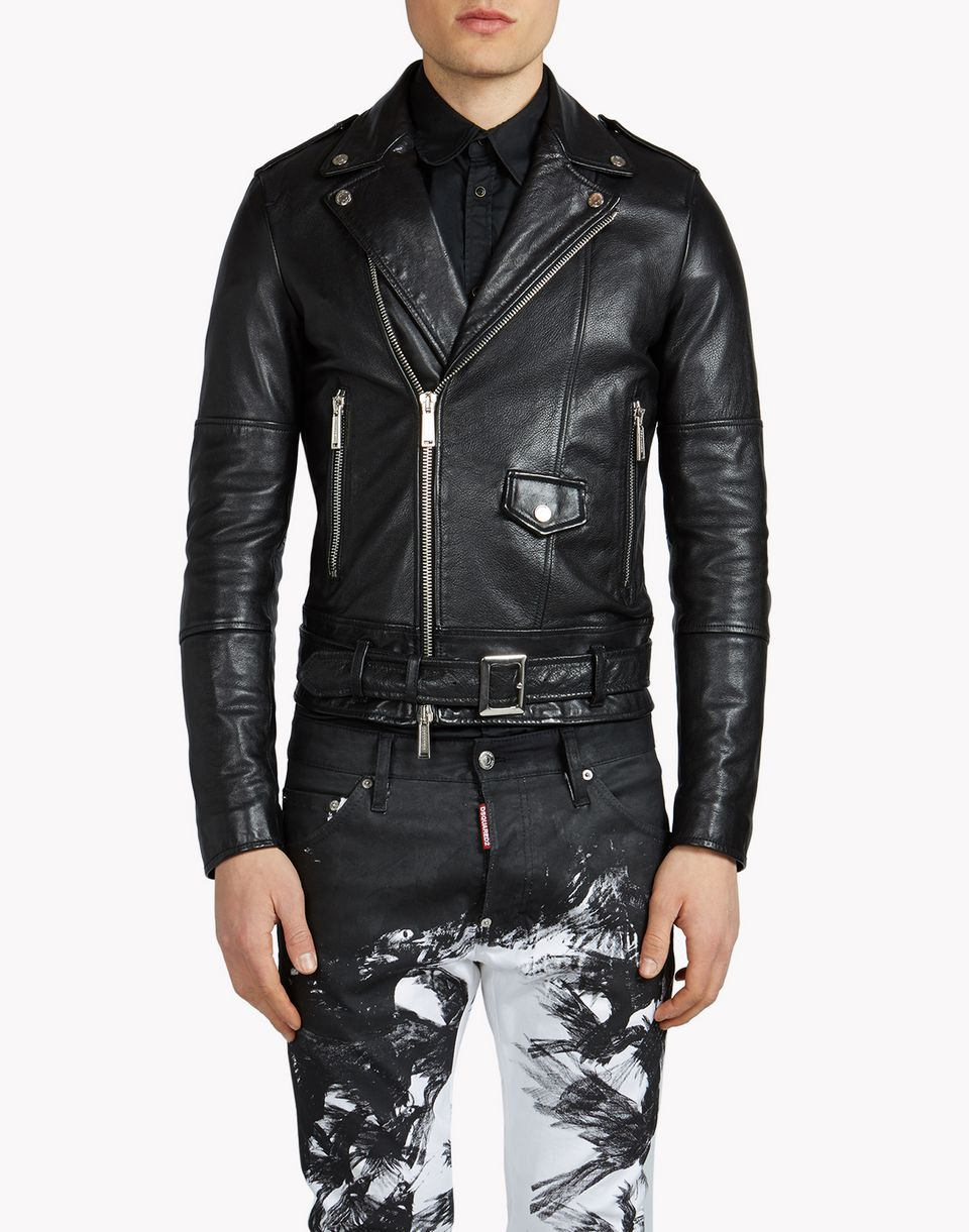 Dsquared2 Rockstar Leather Jacket Leather Outerwear For