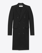 Alluré Coat in Black Cashmere Mélange