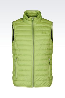 Armani Padded vests Men ultra light down jacket