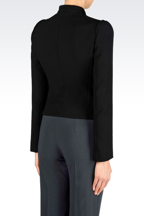 JACKET IN SABLÉ FABRIC: Dinner jackets Women by Armani - 3
