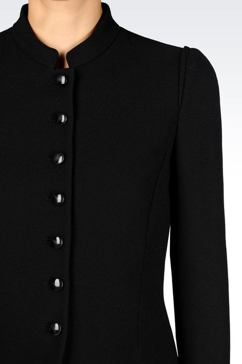 JACKET IN SABLÉ FABRIC: Dinner jackets Women by Armani - 4