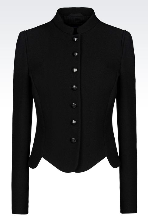JACKET IN SABLÉ FABRIC: Dinner jackets Women by Armani - 1