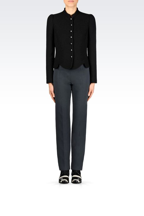 JACKET IN SABLÉ FABRIC: Dinner jackets Women by Armani - 2