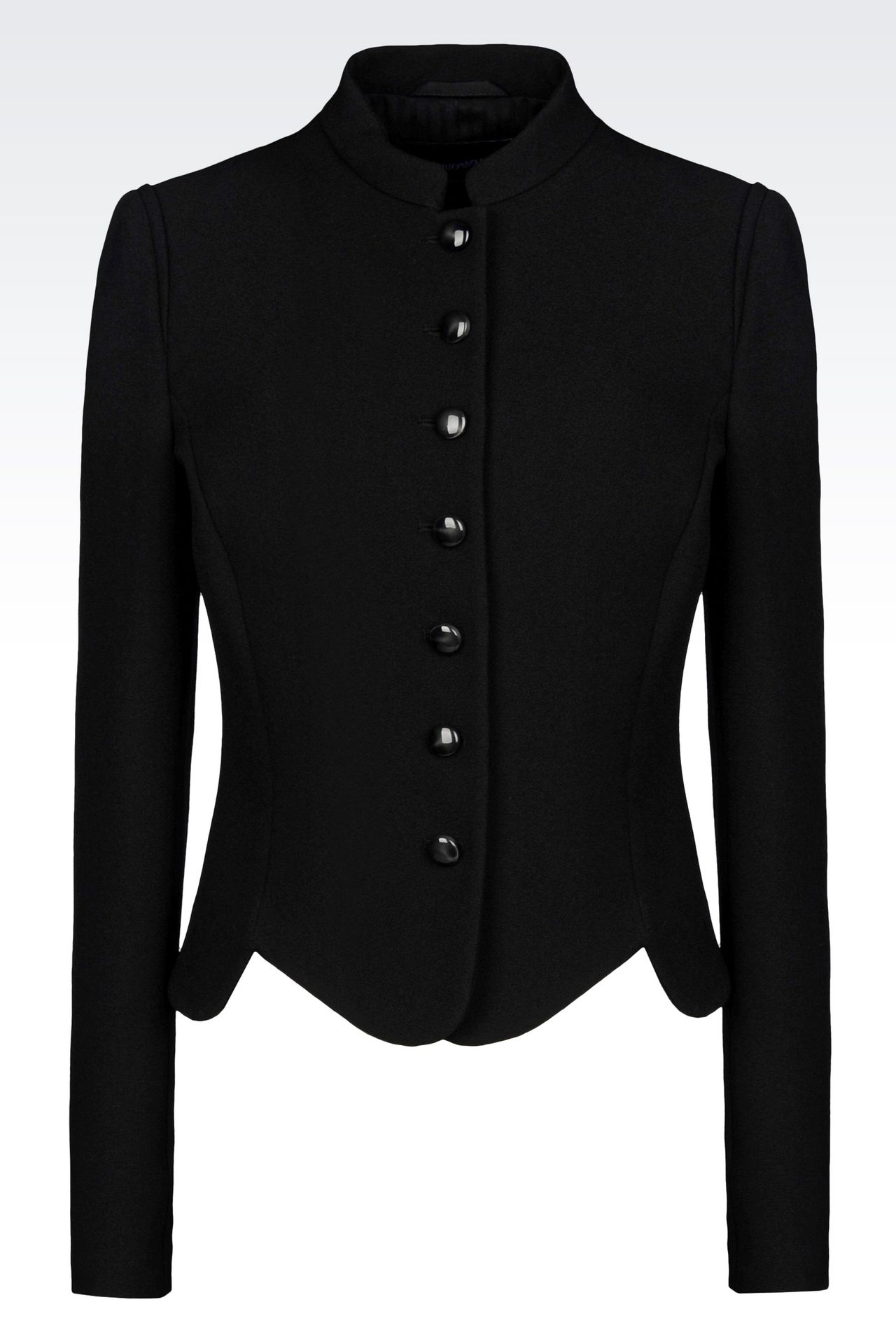 JACKET IN SABLÉ FABRIC: Dinner jackets Women by Armani - 0
